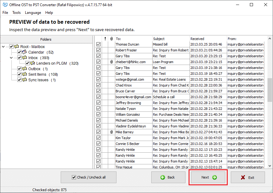 open an OST file on different computers 3
