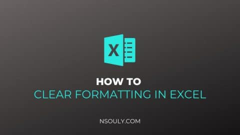 How to Clear Formatting in Excel?
