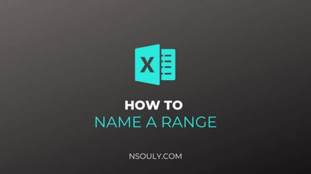 How to Name a Range in Excel