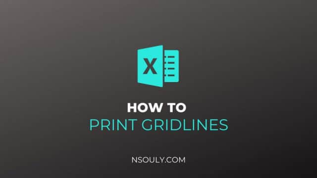 How to Print Gridlines in Excel: Step by Step Guide