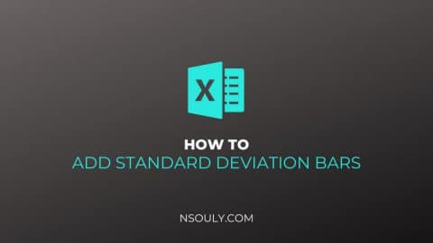 Learn How To Add Standard Deviation Bars In Excel